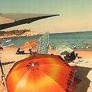 Chileno Beach Umbrellas by Bernadette Claffey