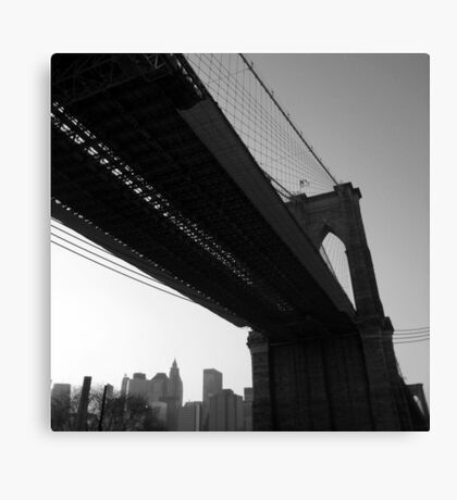winter afternoon, east river, dumbo, nyc Canvas Print