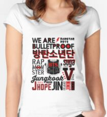 BTS Collage Women's Fitted Scoop T-Shirt