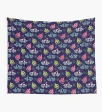 Modern Flowering Gum Navy Wall Tapestry