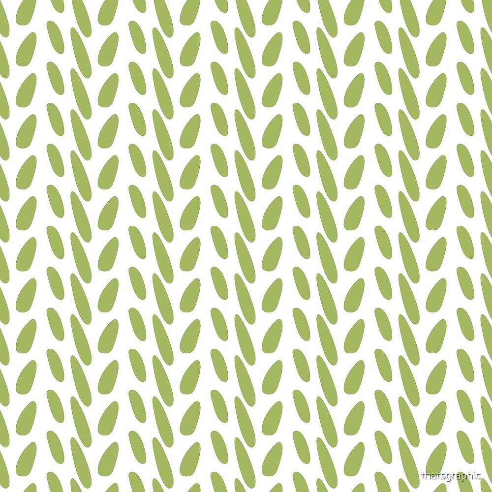 Contemporary Green Print by thatsgraphic