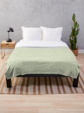 Contemporary Green Print Throw Blanket