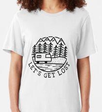 Camiseta ajustada LET´S GET LOST