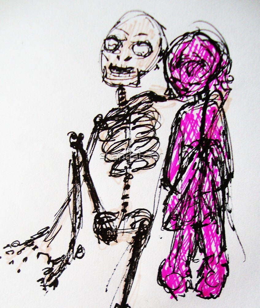 Skeleton you are my friend. by shandab3ar