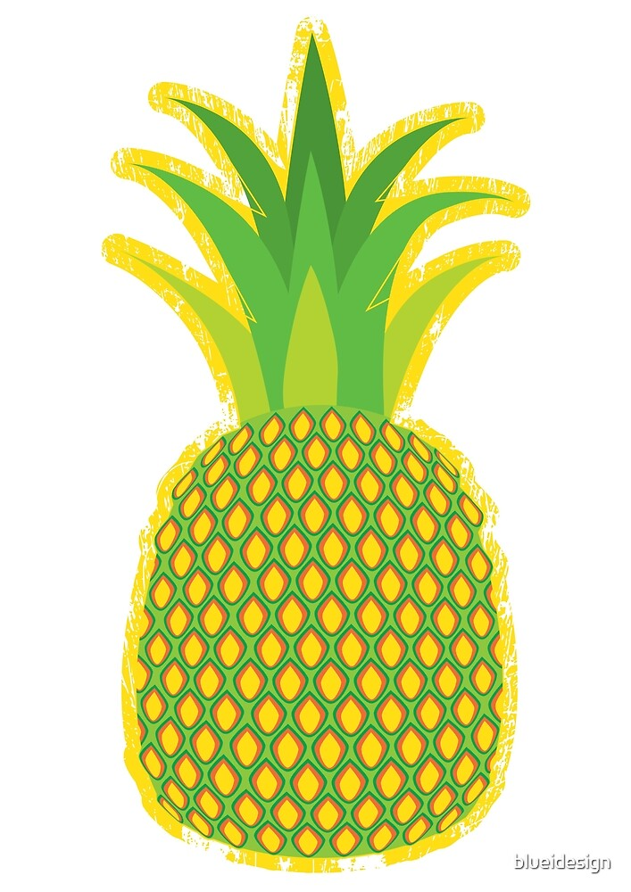 Pineapple Yellow Tropical Fruit Summer by blueidesign