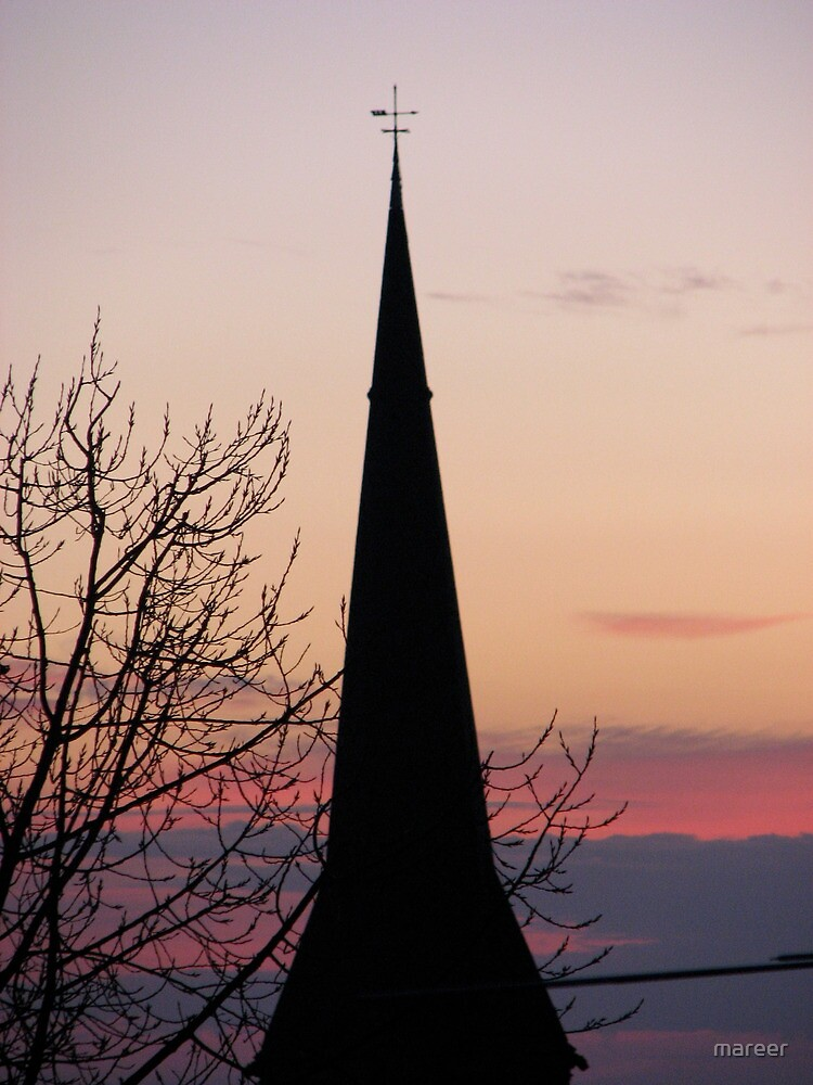 St George Church Spire, Geelong @ sunrise 2010 by mareer