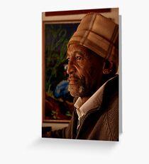 Portrait of an artist Greeting Card