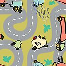 Elijah - Daze - Roads - Repeat Pattern by emshannonart