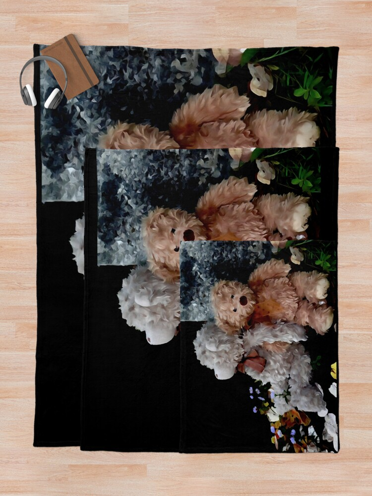 Alternate view of Teddy Bear Buddies Throw Blanket