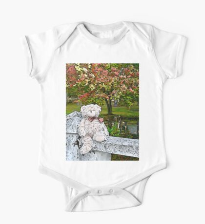 Teddy Bear by the Pond in Autumn Kids Clothes