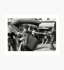 Rue Mouffetard Market (Paris) Art Print