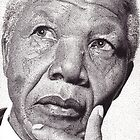 Nelson Mandela, Ink Drawing by kojak67