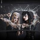 Windscreen Lena and Rebecca by Joseph Darmenia
