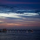 Sunset pier by Larry Varley