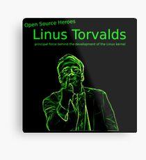 Linux Open Source Heroes - Linus Torvalds Metal Print