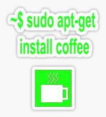 Linux sudo apt-get install coffee Sticker
