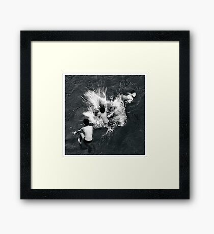 Rhythm #1 - Jump, Splash and Swim Framed Print
