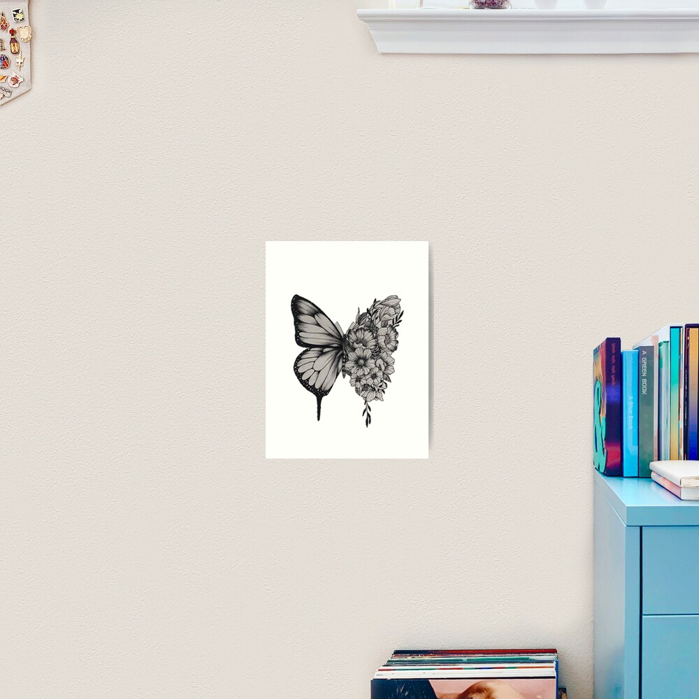 "Shawn Mendes Butterfly Tattoo: ""Butterfly Tattoo Shawn Mendes"" Art Print By Merchal"