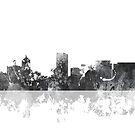 Skyline von Portland, Oregon - B & W von Marlene Watson