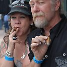 Smokin' together is bein' together by Larry Hartshorn