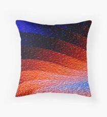 Orange Mountscape Throw Pillow