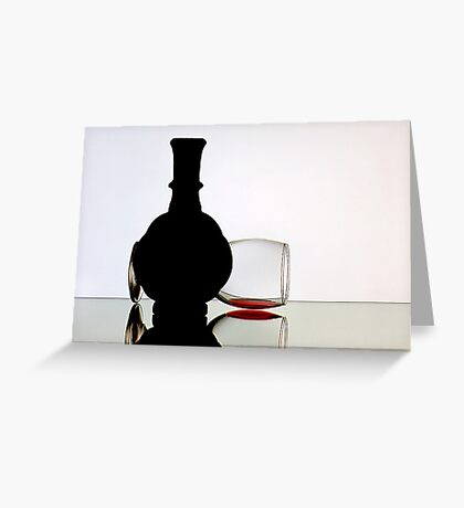 My Glass of Red Wine. Greeting Card