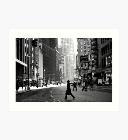 Street Life on Broadway, New York City Art Print