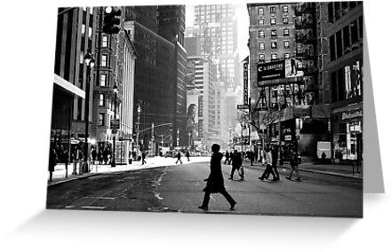 Street Life on Broadway, New York City by danwa