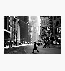 Street Life on Broadway, New York City Photographic Print