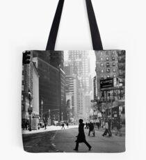 Street Life on Broadway, New York City Tote Bag