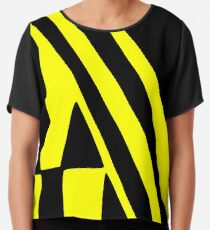 BLACK and YELLOW DAZZLE Chiffon Top