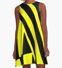 BLACK and YELLOW DAZZLE A-Line Dress