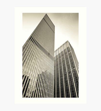 Skyscrapers in Manhattan, NYC Art Print