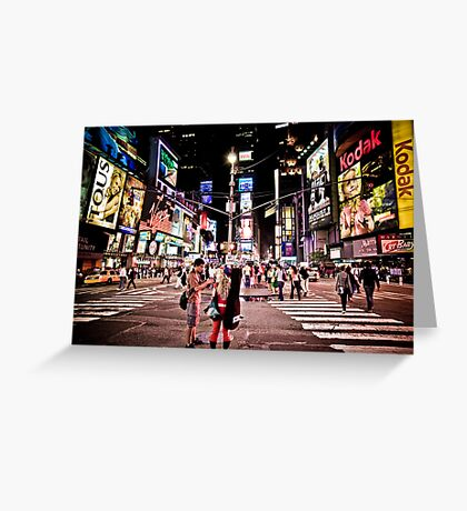 Nightlife on Times Square in Manhattan, NYC Greeting Card