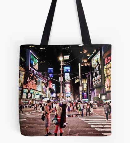 Nightlife on Times Square in Manhattan, NYC Tote Bag