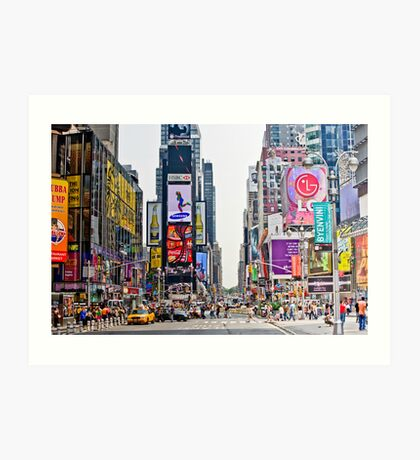 Times Square in Manhattan, NYC Art Print