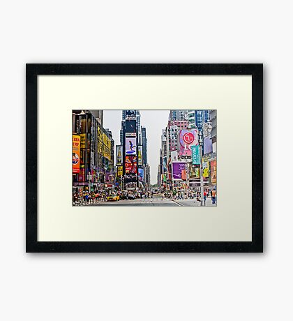 Times Square in Manhattan, NYC Framed Print