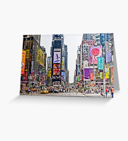 Times Square in Manhattan, NYC Greeting Card