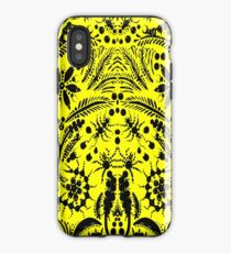 Black and Yellow Jungle iPhone Case