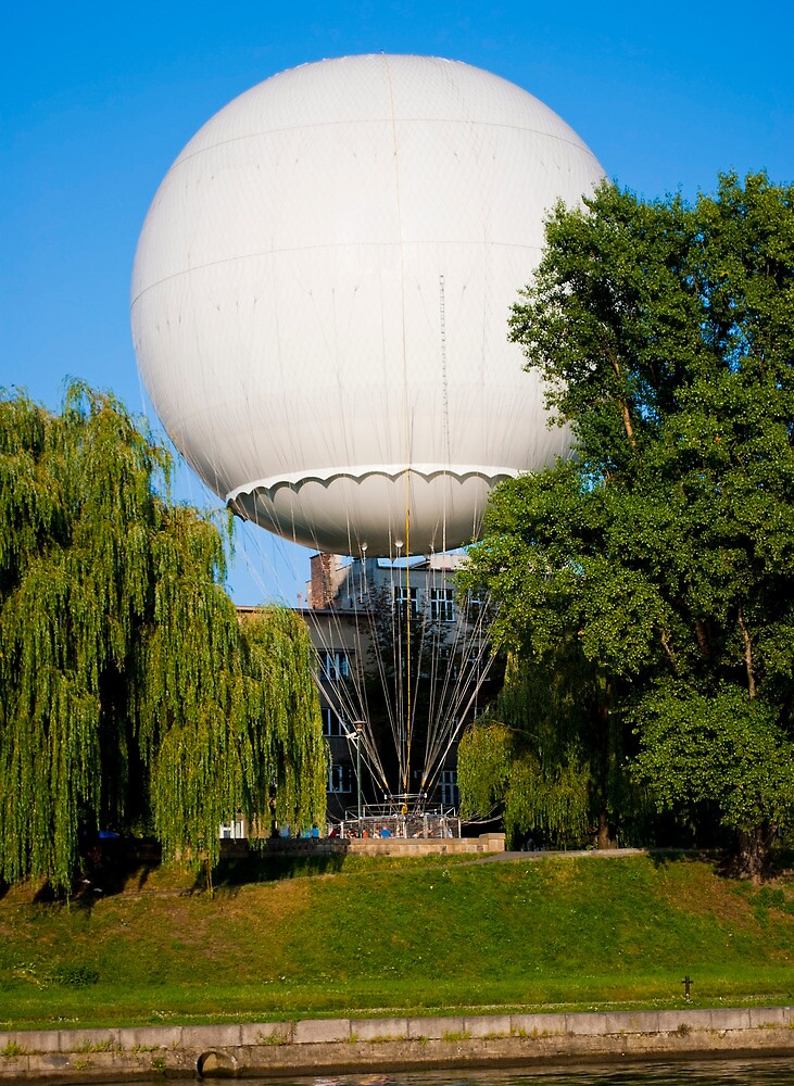 Big white baloon in Wroclaw, Poland by Dfilyagin