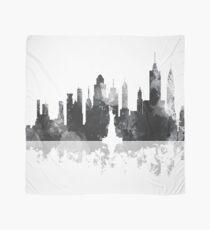 Pañuelo Skyline de Nueva York, NY - Blanco y negro
