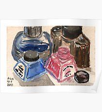 Ink Bottles Poster