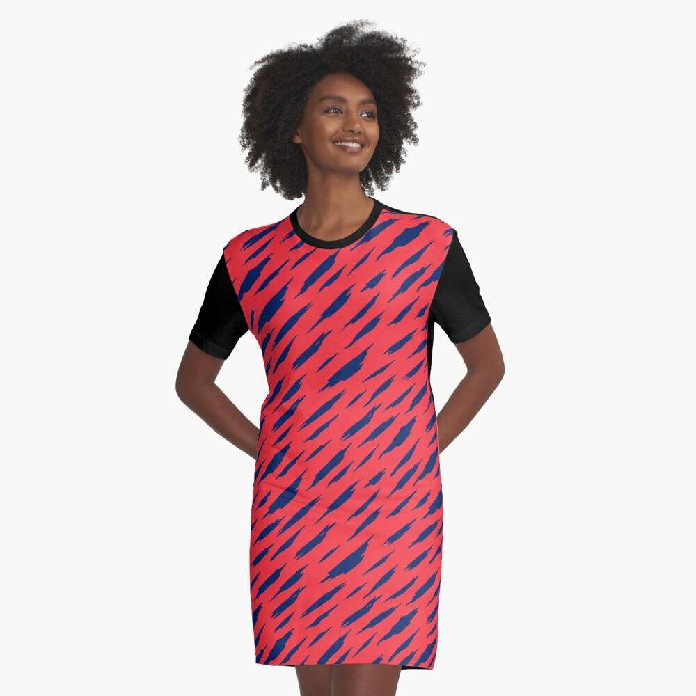 Abstract pattern Graphic T-Shirt Dress