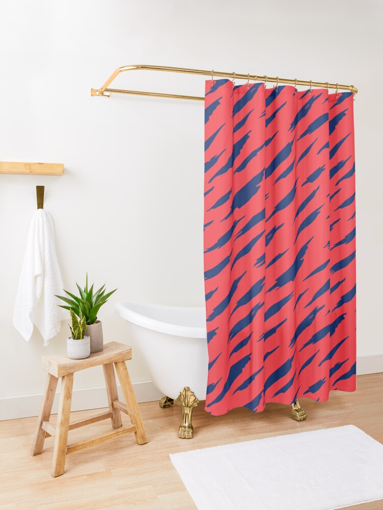 Alternate view of  Abstract pattern Shower Curtain
