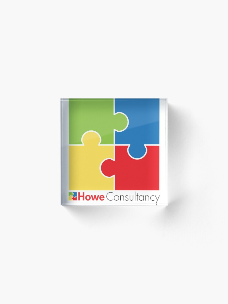 Alternate view of Howe Consultancy Logo Acrylic Block