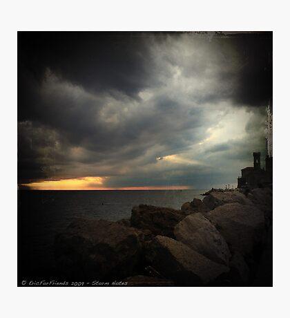 Storm Notes - Piran, Slovenia Photographic Print