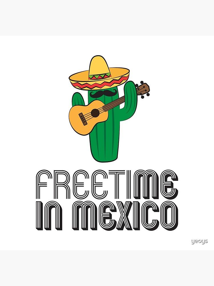 Freizeit in Mexiko - Reise Wortspiele Geschenk von yeoys