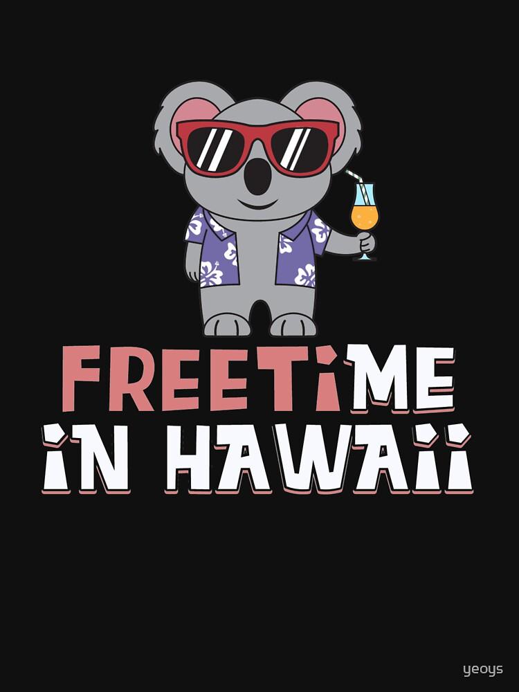 Freizeit in Hawaii - Reise Wortspiele Geschenk von yeoys