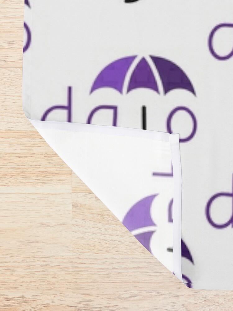 Alternate view of Dajo Logo Shower Curtain
