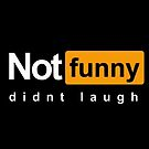 Not Funny Didn't Laugh (Meme) by Glyphz